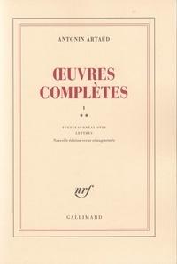 Antonin Artaud - Oeuvres complètes - Tome 1, Volume 2.
