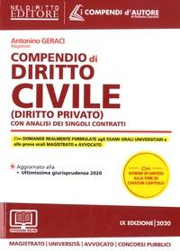 Antonino Geraci - Compendio di diritto civile (diritto privato) - Con analisi completa dei singoli contratti.