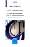 Antonio Augusto Cançado Trindade - Le droit international pour la personne humaine.