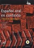 Antonio Moreno Sandoval - Español oral en contexto - Textos español oral. 1 CD audio