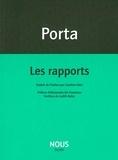 Antonio Porta - Les rapports.