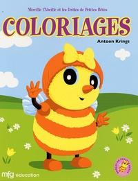 Antoon Krings - Mireille l'abeille et les drôles de petites bêtes - Coloriages.