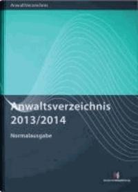 Anwaltsverzeichnis 2013/2014 Normalausgabe.