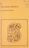Any Barda et  Laboratoire de slavistique de - Bibliographie des œuvres de Zénaïde Hippius.