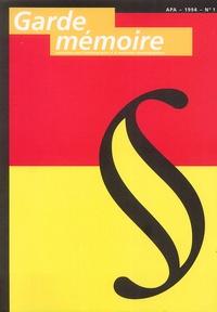 APA - Garde mémoire N° 1, 1994 : .