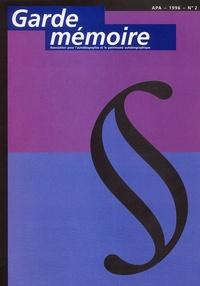 APA - Garde mémoire N° 2, 1996 : .