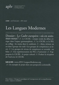Pierre Frath - Les Langues Modernes N° 2/2008 : Le Cadre européen : où en sommes-nous ?.