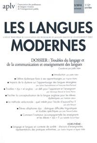 Joëlle Aden - Les Langues Modernes N° 2, avril-mai-juin : Troubles du langage et de la communication et enseignement des langues.