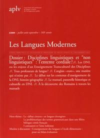 """Bernard Delahousse et Marie-Pascale Hamez - Les Langues Modernes N° 3, juillet-août-s : Disciplines linguistiques et """"non linguistiques"""" : l'entente cordiale ?."""