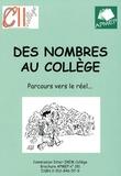APMEP - Des nombres au collège - Parcours vers le réel....