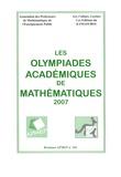 APMEP - Les Olympiades académiques de mathématiques 2007.