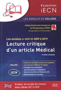 APNET - Lecture critique d'un article médical - Les annales en QRM de 2009 à 2019.
