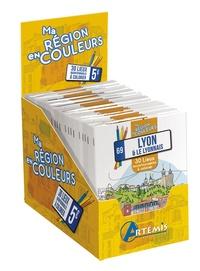 Apolline Risser - Boîte Ma région en couleurs - 20 exemplaires de Lyon & Le Lyonnais, 30 lieux incontournables à colorier.