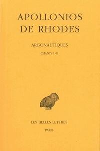 Apollonios de Rhodes - Argonautiques - Tome 1, Chants 1 et 2.