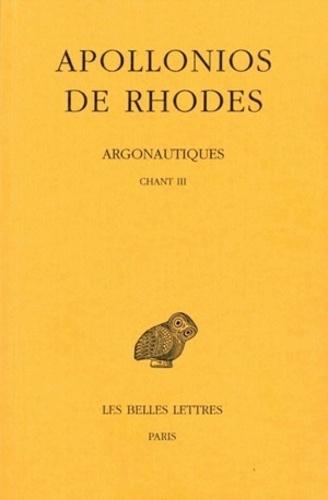 Argonautiques. Tome 2, Chant III