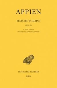 Appien - Histoire romaine - Tome 5, Livre IX, Le livre illyrien ; Fragments du livre macédonien.