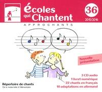 Approchants - Ecoles qui chantent - Répertoire de chants. 1 Cédérom + 3 CD audio