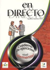 Aquilino Sanchez Perez - En directo elemental - Cuaderno de ejercicios.