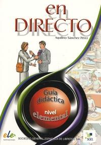 Aquilino Sanchez Perez - En directo elemental - Guia didactica.