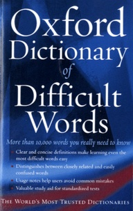 Histoiresdenlire.be The Oxford Dictionary of Difficult Words Image