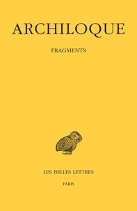 Archiloque - Fragments.