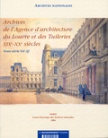 Archives nationales - Agence d'architecture du louvres et des tuileries.
