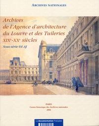 Archives nationales - Agence d'architecture du louvres et des tuileries.