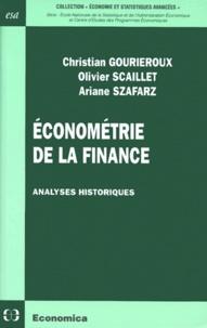 Ariane Szafarz et Christian Gourieroux - .