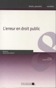 Ariane Vidal-Naquet - L'erreur en droit public.