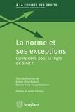 Ariane Vidal-Naquet et Marthe Fatin-Rouge Stéfanini - La norme et ses exceptions - Quels défis pour la règle de droit ?.