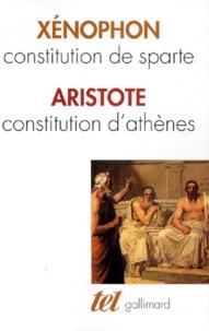 Aristote et  Xénophon - Constitution de Sparte.