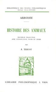 Histoire des animaux -  Aristote |