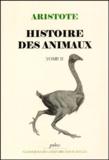 Aristote - Histoire des animaux. - Tome 2.