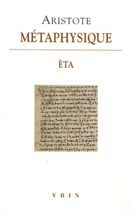 Aristote - Métaphysique - Livre èta.