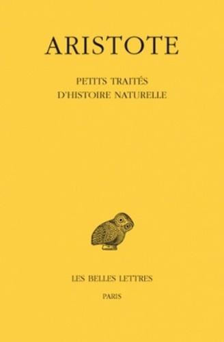 Aristote - Petits traités d'histoire naturelle.