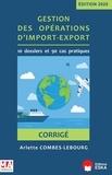 Arlette Combes-Lebourg - Gestion des opérations d'import-export - Corrigé.