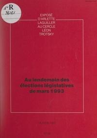 Arlette Laguiller et  Cercle Léon Trotsky - Au lendemain des élections législatives de mars 1993 - Exposé d'Arlette Laguiller au cercle Léon Trotsky du 29 janvier 1993.