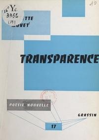 Arlette Movet et Jean Poilvet le Guenn - Transparence.