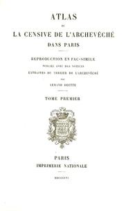 Armand Brette - Terrier de la censive de l'archevêché dans Paris - Tome 1.