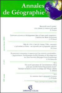 Armand Colin - Annales de Géographie n° 611 janvier-février 2000.