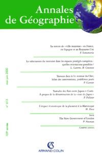 Armand Colin - Annales de Géographie n° 613 mai-juin 2000.