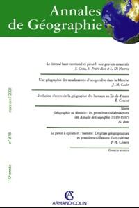 Deedr.fr Annales de Géographie N° 618 Mars-Avril 2001 Image