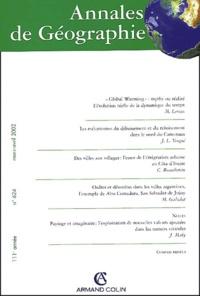 Armand Colin - Annales de géographie N° 624 Mars-Avril 2002.