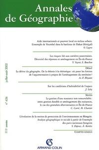 Armand Colin - Annales de Géographie N° 626 Juillet-Août 2002.