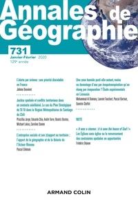 Armand Colin - Annales de Géographie N° 731, 1/2020 : Varia.
