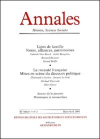 Armand Colin - Annales Histoire, Sciences Sociales N° 2 Mars-Avril 2001.