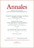 Armand Colin - Annales Histoire, Sciences Sociales N° 6 Novembre-Décembre 2000.