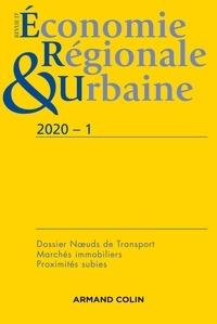 Armand Colin - Revue d'économie régionale et urbaine N° 1/2020 : Varia.
