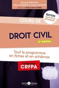 Armand Dadoun et Valérie Durand - Cours de droit civil - Tout le programme en fiches et en schémas.