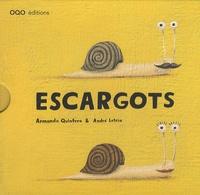 Armando Quintero et André Letria - Escargots Coffret 5 volumes - Escargot et coquille ; Quelle frousse ! ; Escargot navigue ! ; Escargot et fourmi ; Escargot et chenille.